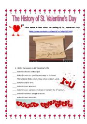 English Worksheet: The history of St. Valentine´s Day