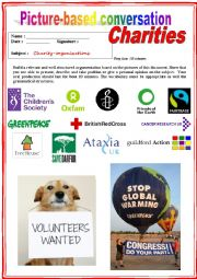 Picture based conversation.  Charity organizations. (Debating) 5/…