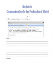 Communication in the professional world