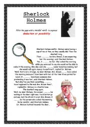 English Worksheet: Sherlock Holmes  - Deduction and Possibility Modal Verbs