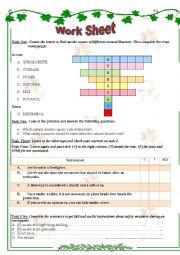 English Worksheet: safety measures