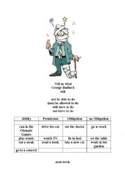 English Worksheet: use of modal auxiliaries, Mr Badluck