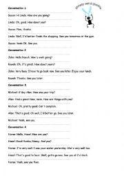 English Worksheet: Converstation