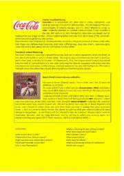 English Worksheet: Coca-Cola