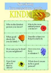 Speaking cards - Kindness