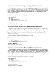 English Worksheet: personal letter