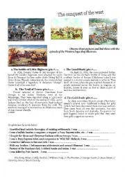 English Worksheet: The conquest of the west