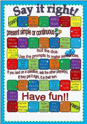 Say it right! Present tenses Board game