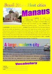 English Worksheet: BRAZIL 2014 HOST CITIES