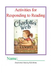 Read and Respond Activities; Charlotte´s Web