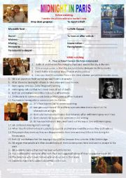 MIDNIGHT IN PARIS full movie worksheet
