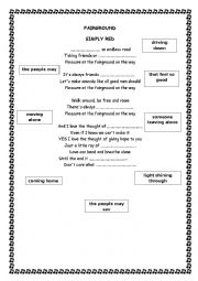 English Worksheet: Fairground - Simply Red