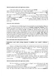 English Worksheet: third full term test for 2nd form Part 2