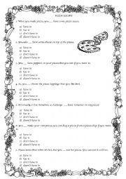 English Worksheet: Pizza recipe