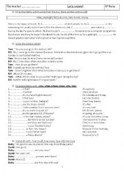 English Worksheet: Review 8th form for the 3rd term