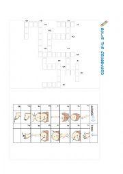 English Worksheet: Crosswords Body parts