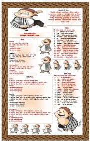 English Worksheet: verb and non verb in simple present tense