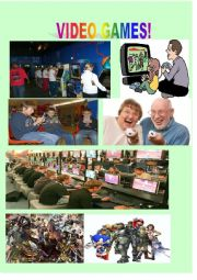 English Worksheet: Video Games Picture Speaking Activitiy