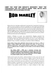 English Worksheet: BOB MARLEY�S BIOGRAPHY