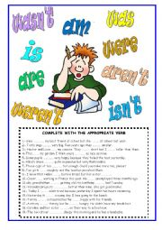English Worksheet: VERB TO BE - PRESENT AND PAST