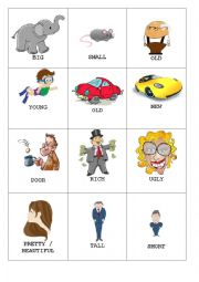 Opposite Adjectives - Memory game (part2/2)