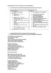 "English Worksheet: Listening tasks for the song  ""If Today Was Your Last Day"" by Nickelback"