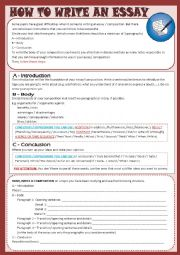 English Worksheet: Writing - how to write an essay