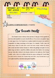English Worksheet: Full term test n