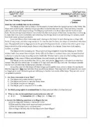 English Worksheet: The MAYA civilisation