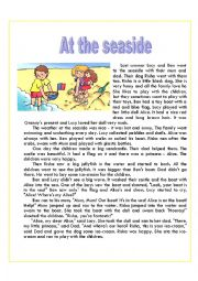English Worksheet: At the seaside. Reading