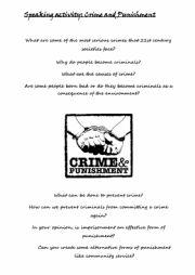 English Worksheet: Crime and Punishment