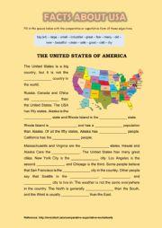 English Worksheet: The United States of America