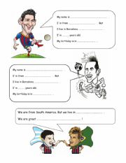 FIFA World Cup - Messi and Neymar- personal info