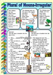 English worksheet: Plural of Nouns- Irregular