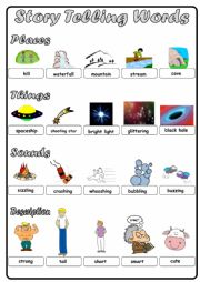 Storytelling words for mini book (part 2)