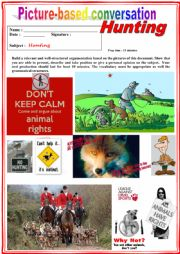 Picture based conversation.  Hunting. (Debating) 18/…