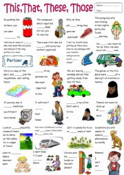 English Worksheet: This,That,These,Those