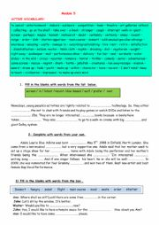 English Worksheet: Module 5