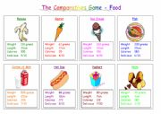 Food Comparatives Game