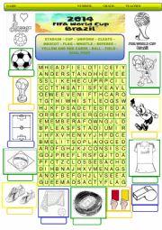 English Worksheet: World Cup 2014