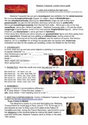 English Worksheet: Madame Tussauds, video and biography