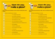 English Worksheet: HOW DO YOU MAKE A PIZZA?