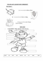 English Worksheet: Elementary Worksheet
