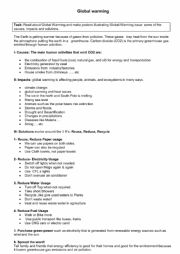 English Worksheet: Global Warming: causes, effects and sollutions