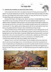 english worksheets greek mythology trojan war. Black Bedroom Furniture Sets. Home Design Ideas