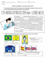 World Cup Brazil 2014 - Lionel Messi and Cristiano Ronaldo - Verb to be