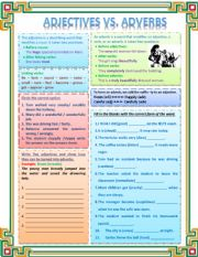 English Worksheet: Adjective Vs Adverb