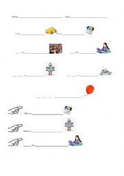 English Worksheet: It is a...     That is a...