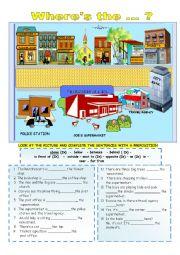 English Worksheet: Prepositions of location