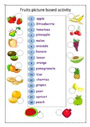 fruits : picture based activity